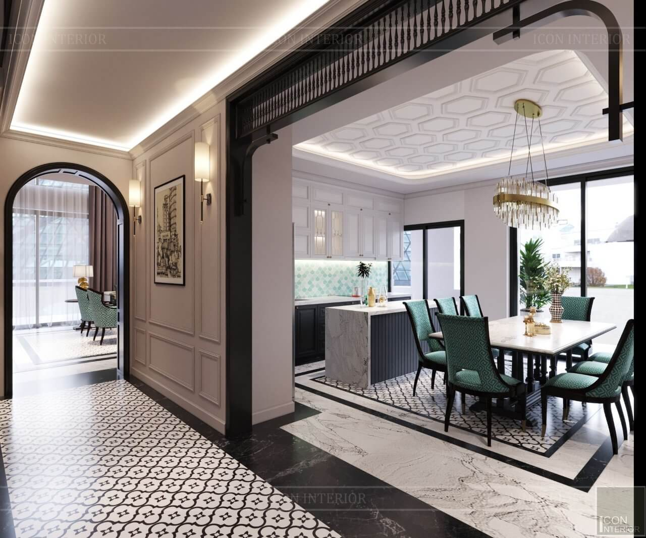 thiết kế nội thất căn hộ Five Star Westlake