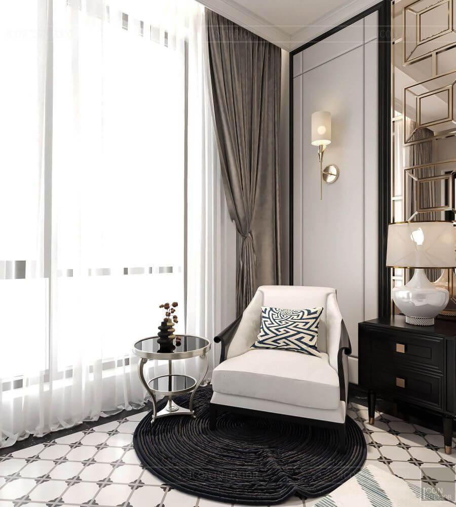 thiết kế nội thất phòng ngủ duplex five star west lake