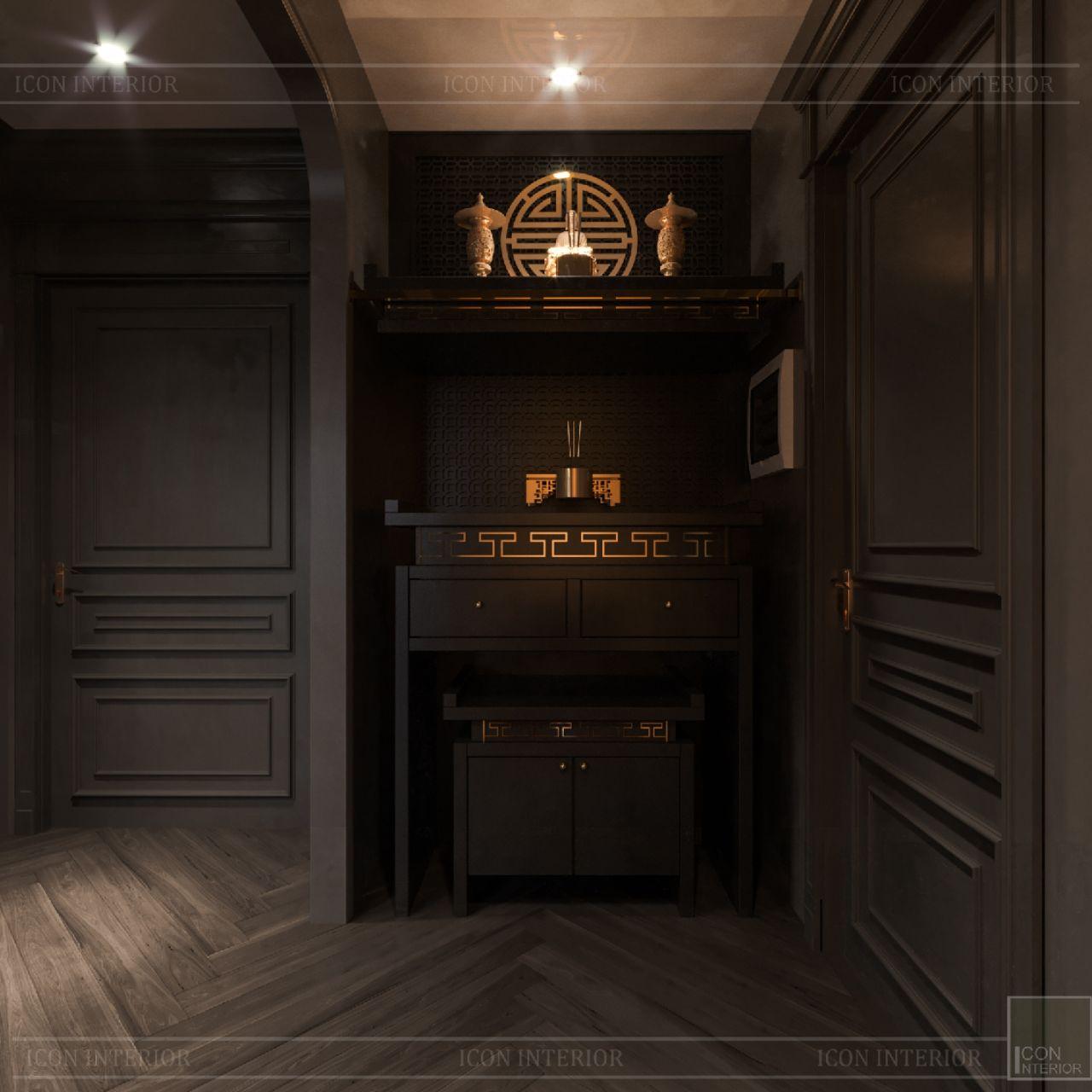 nội thất phòng thờ căn hộ chung cư Empire City