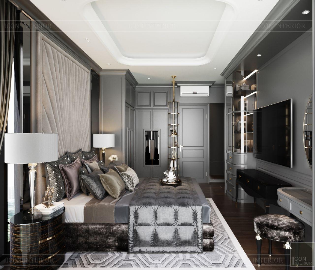 thiết kế nội thất phòng ngủ master cao cấp