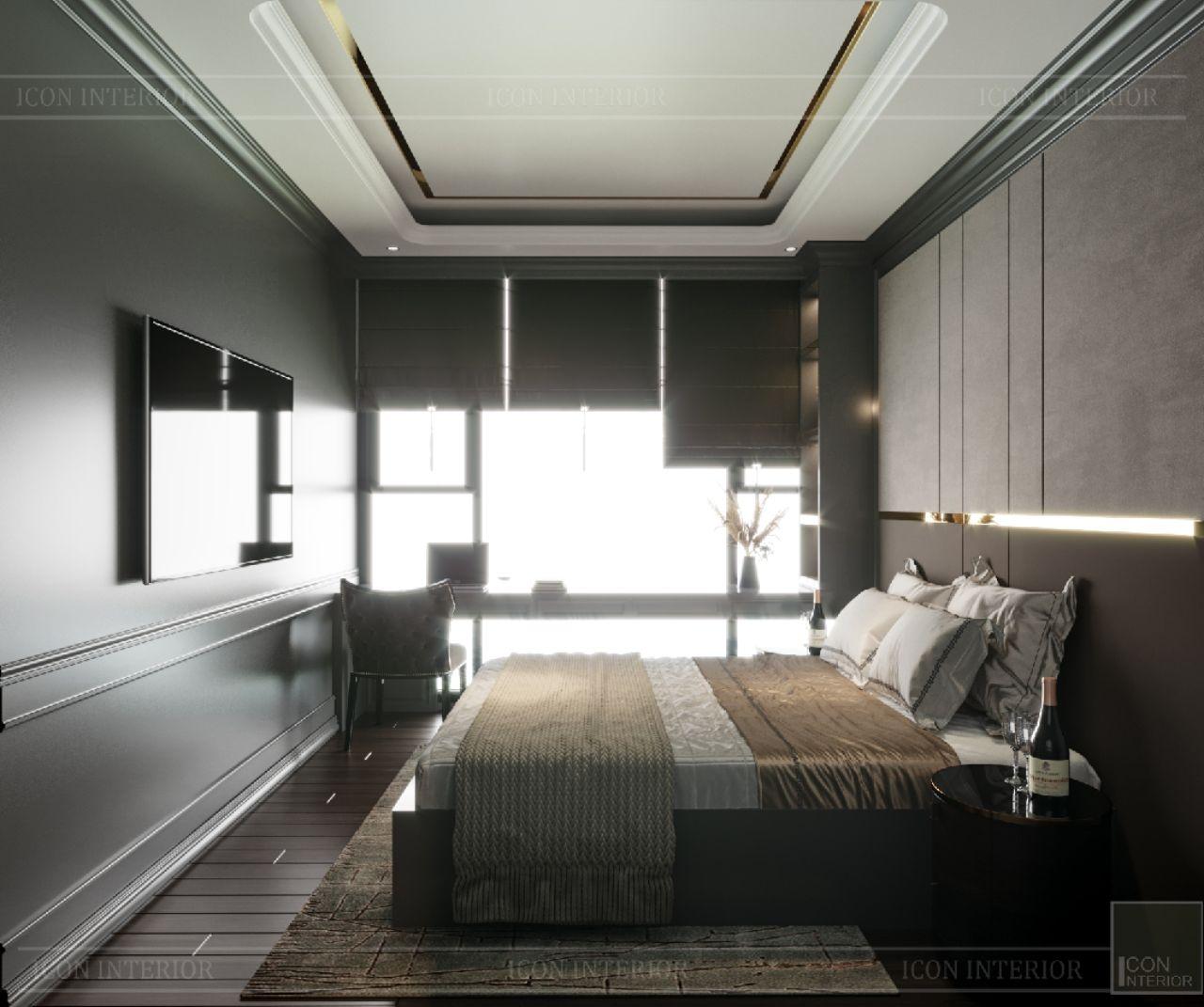 phòng ngủ nhỏ căn hộ empire