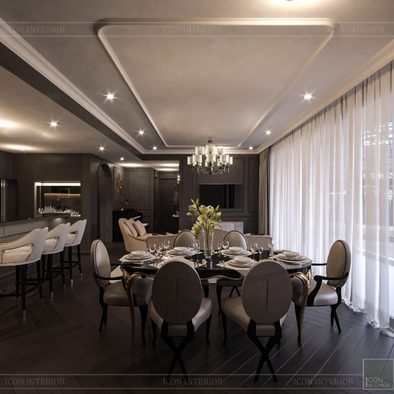 thiết kế phòng ăn căn hộ Empire City