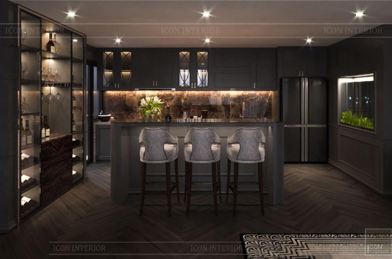 thiết kế phòng bếp căn hộ Empire City