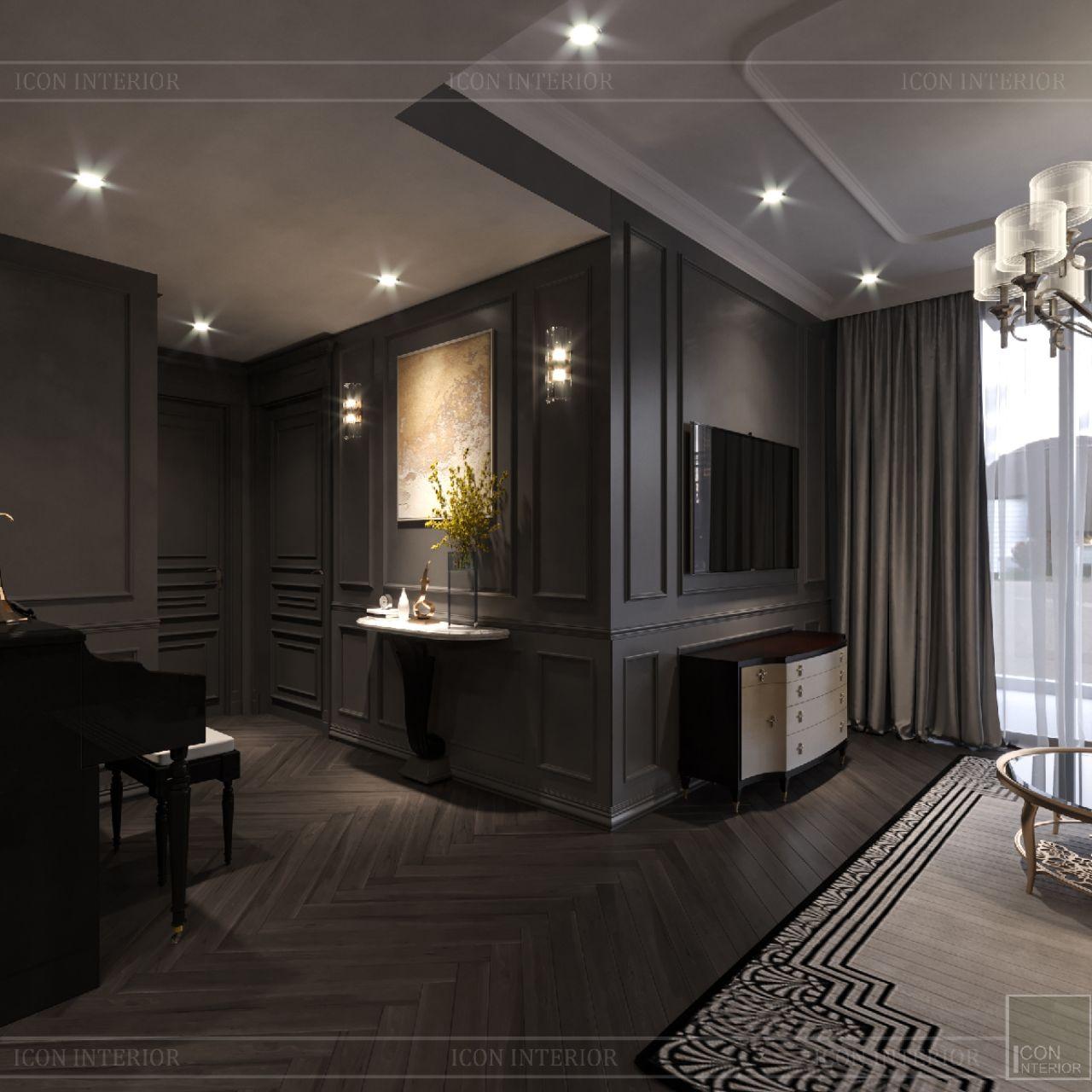 thiết kế phòng khách căn hộ Empire City