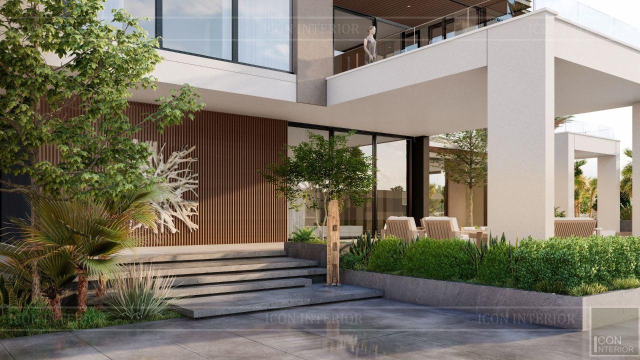 thiết kế kiến trúc biệt thự bình dương 4 tầng