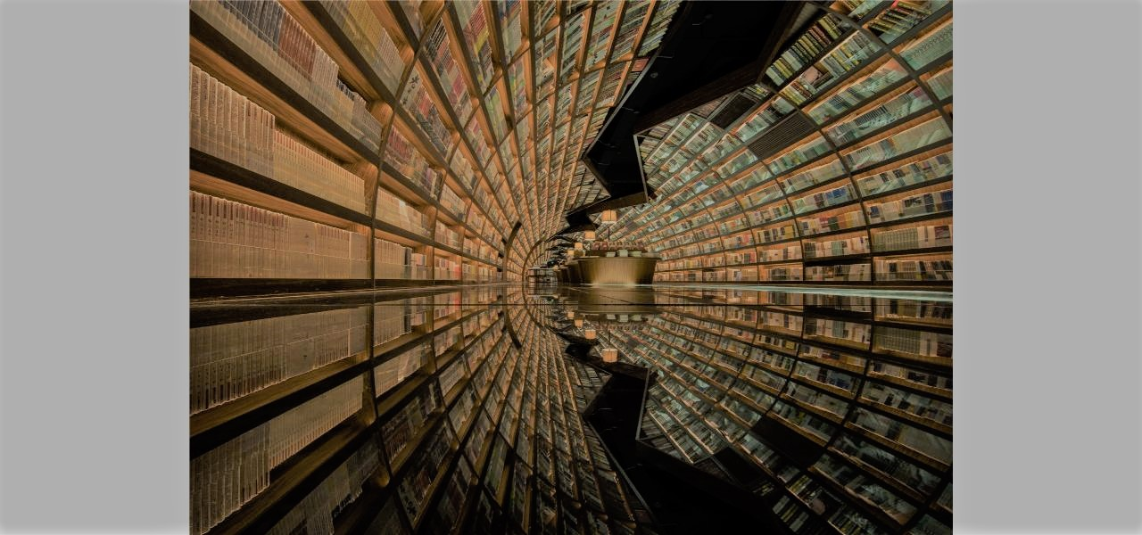 lối kiến trúc độc đáo với nhà sách có hiệu ứng nhân đôi không gian