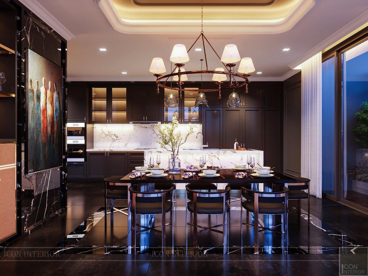 nội thất duplex phòng bếp
