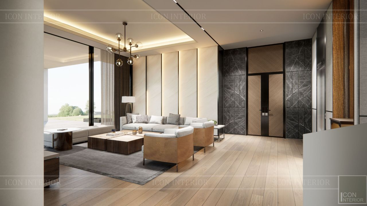 nội thất phòng khách villa bình dương 1500m2 ms. Nhi