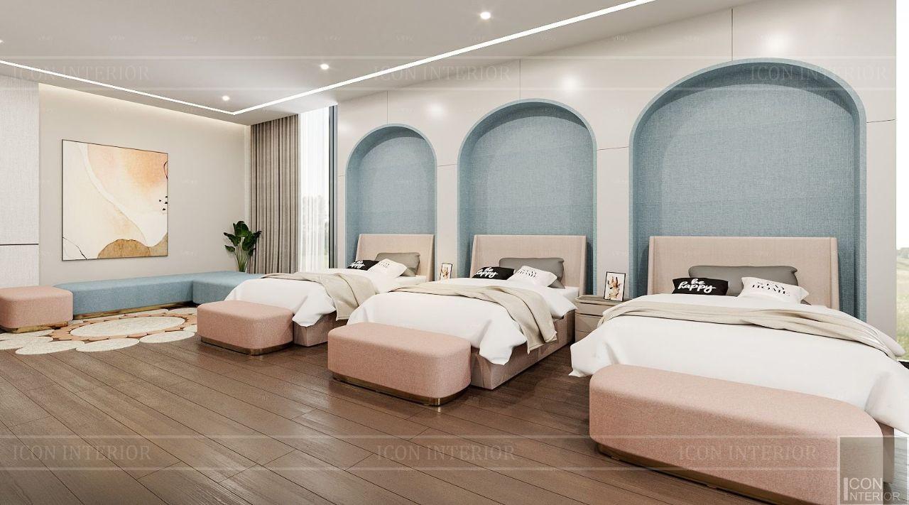 thiết kế nội thất phòng ngủ trẻ em biệt thự bình dương 1500m2 ms. Nhi