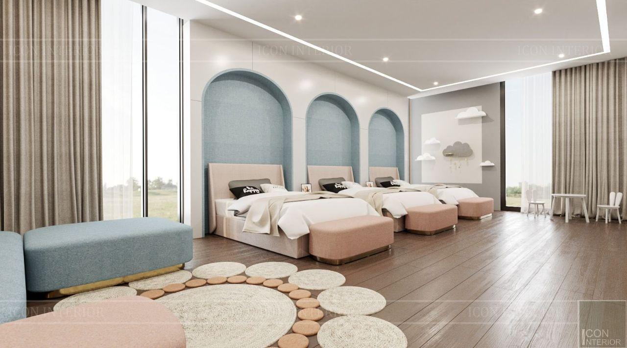 phòng ngủ trẻ em villa bình dương 4 tầng