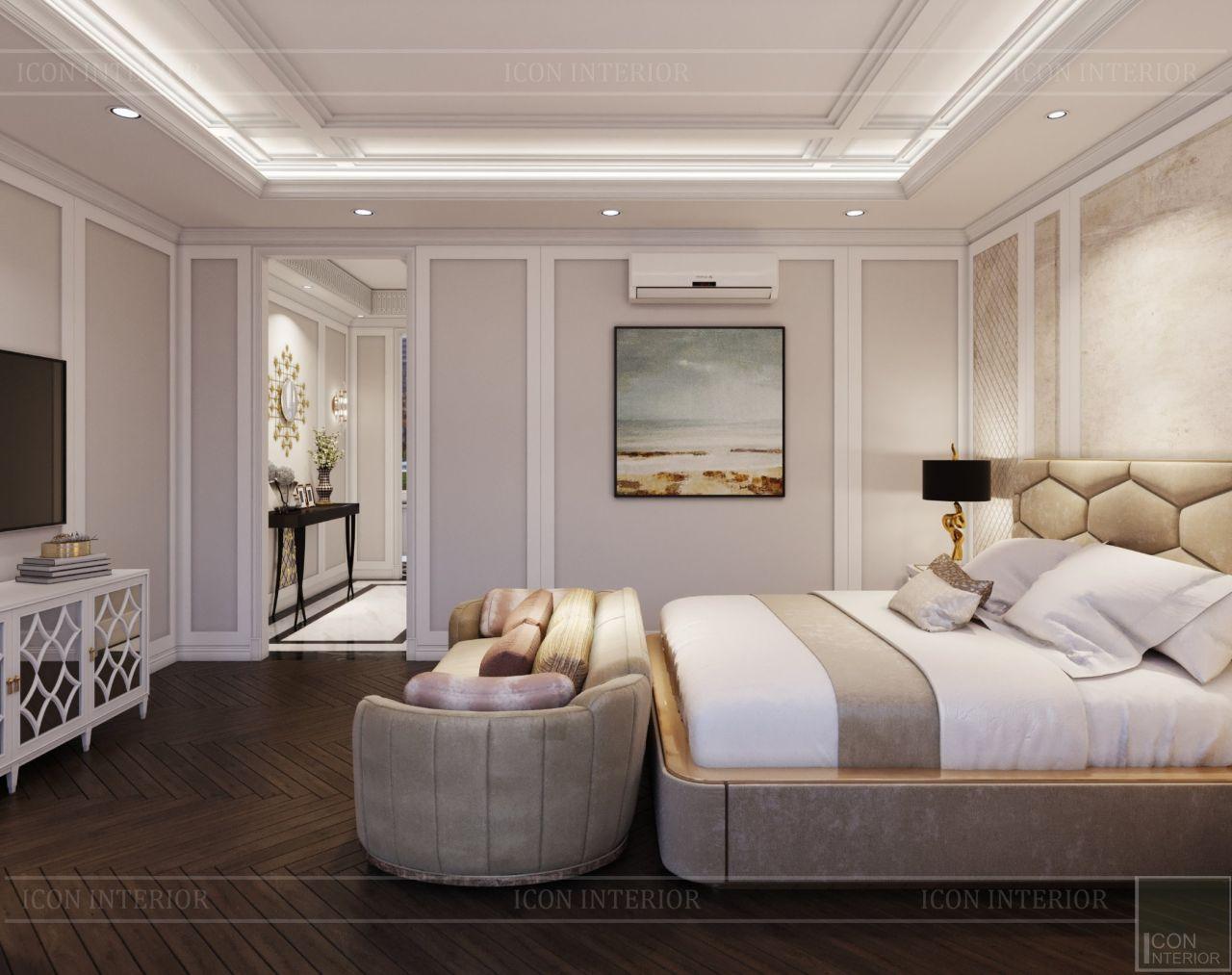 phòng ngủ nhà phố Lavila Nhà Bè 3 tầng