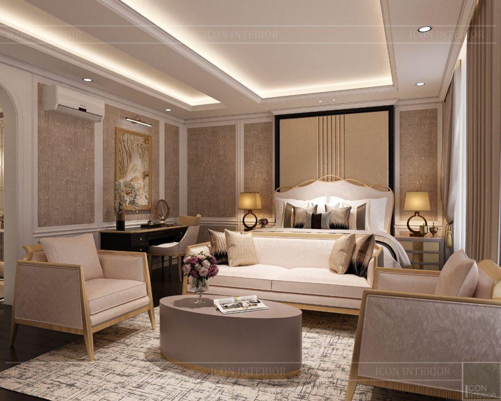 mẫu thiết kế duplex phong cách tân cổ điển