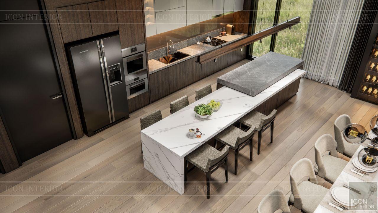 thiết kế phòng bếp villa bình dương 1500m2 ms. Nhi