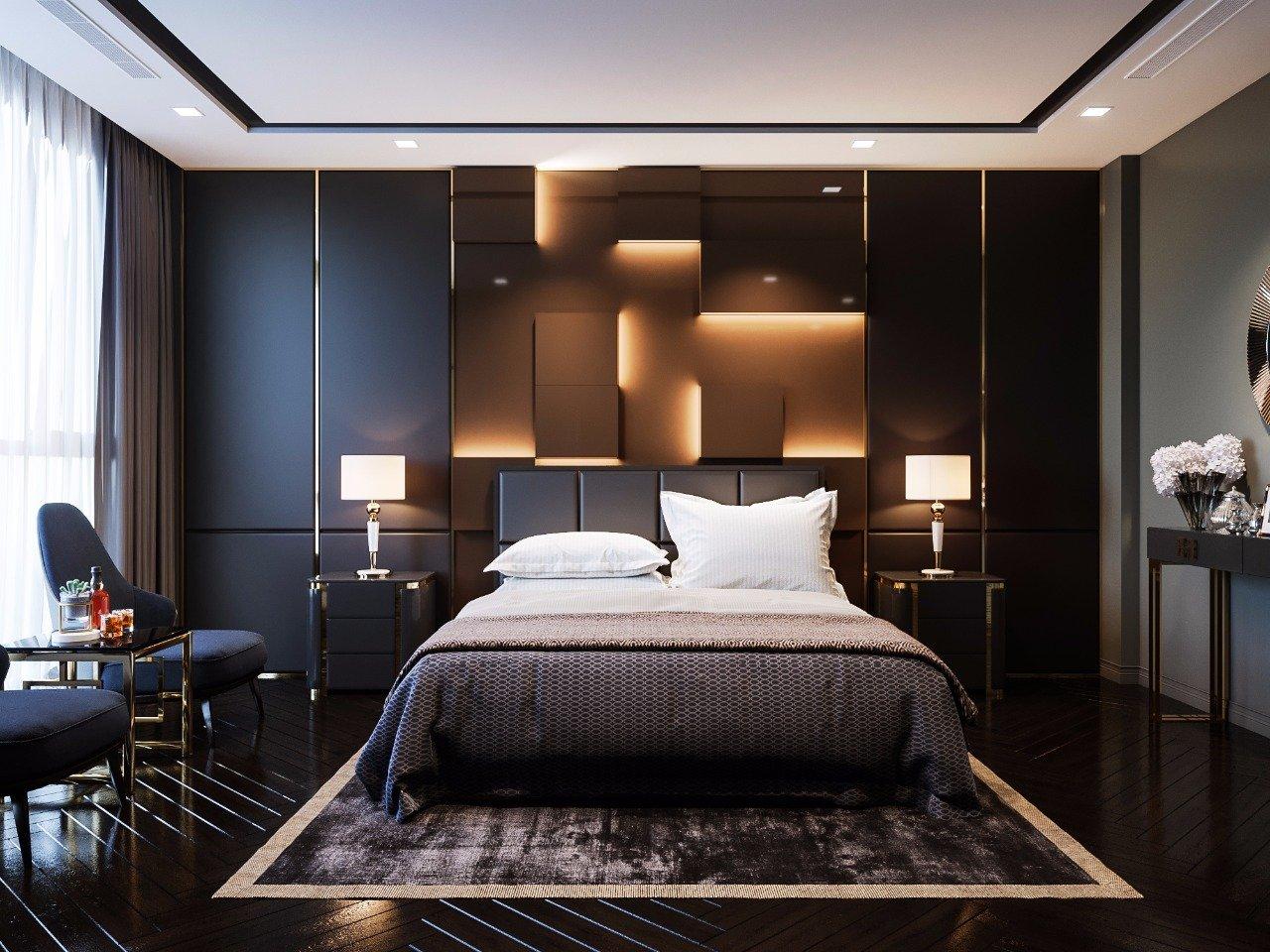 phòng ngủ căn hộ duplex