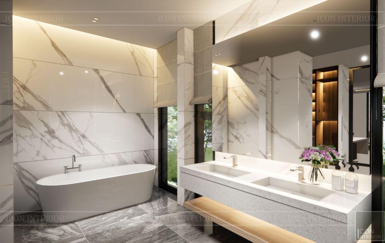 thiết kế toilet biệt thự Bình Dương 1500m2 ms. Nhi