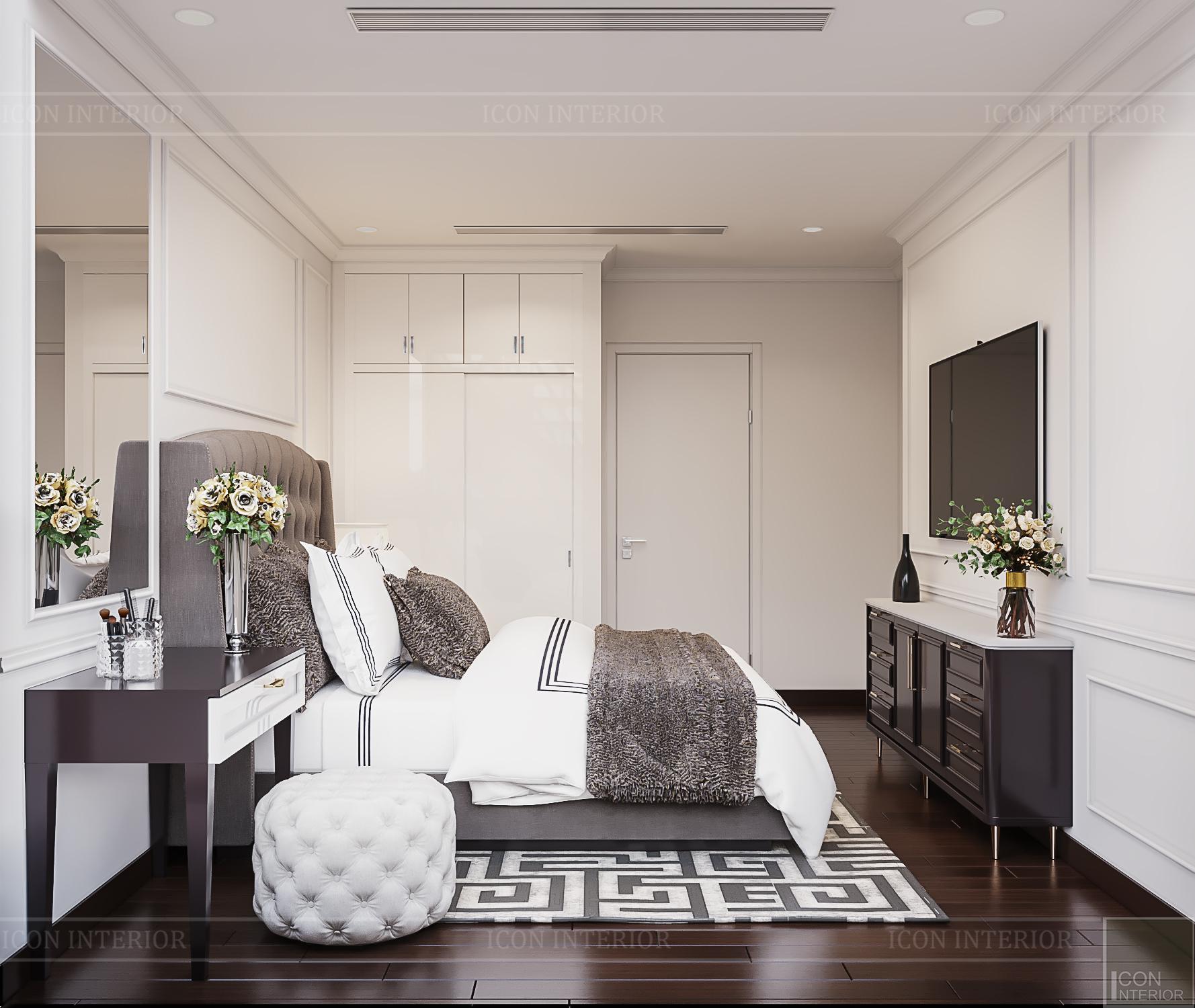 phòng ngủ căn hộ mini đẹp