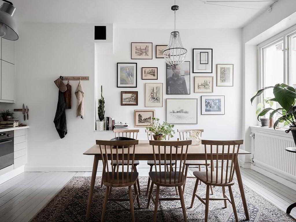 thiết kế bếp chung cư scandinavian