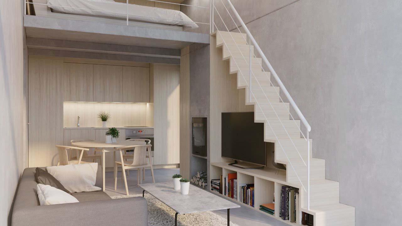 thiết kế gác lửng trong căn hộ chung cư
