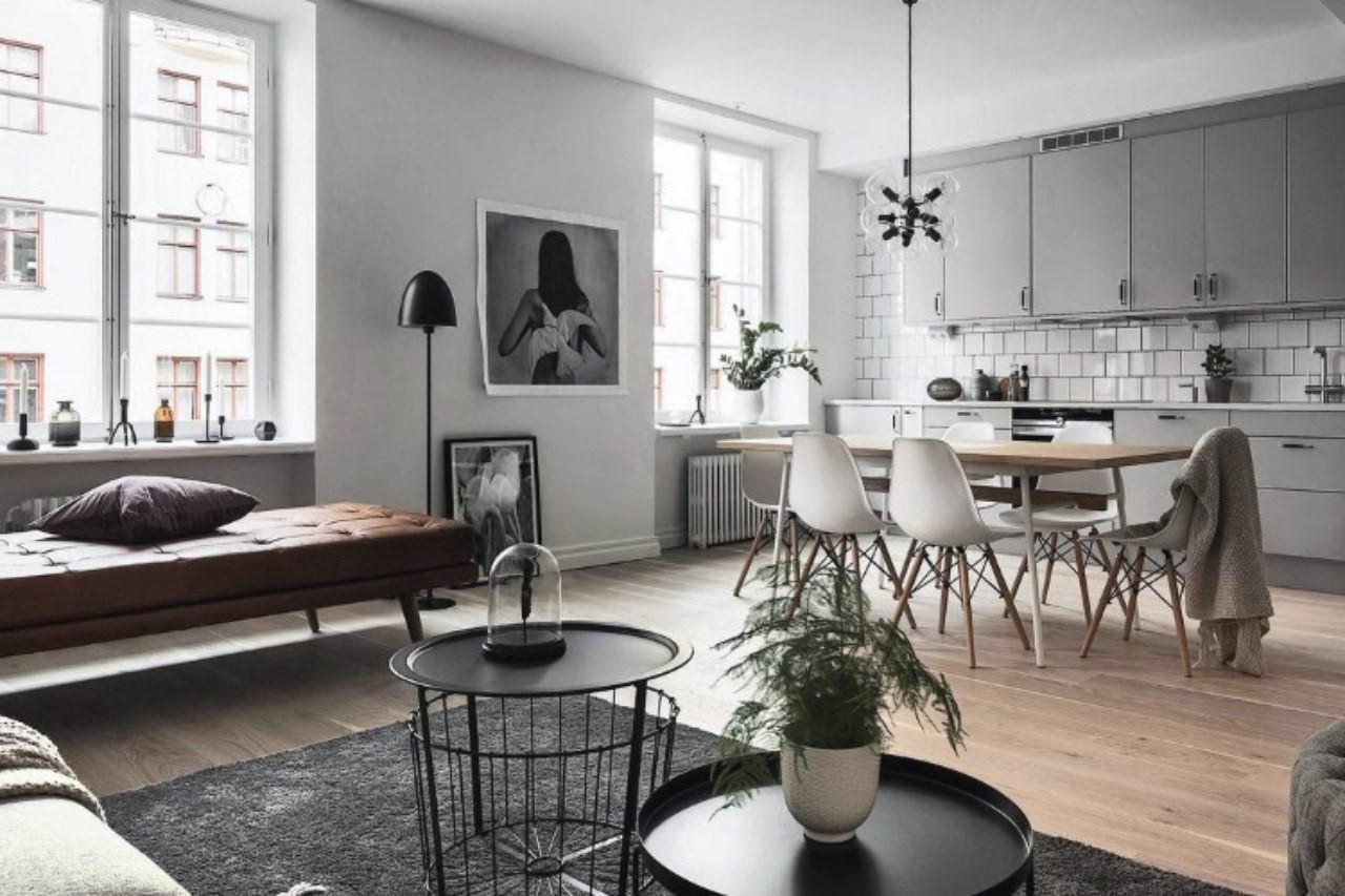 thiết kế nội thất căn hộ chung cư scandinavian