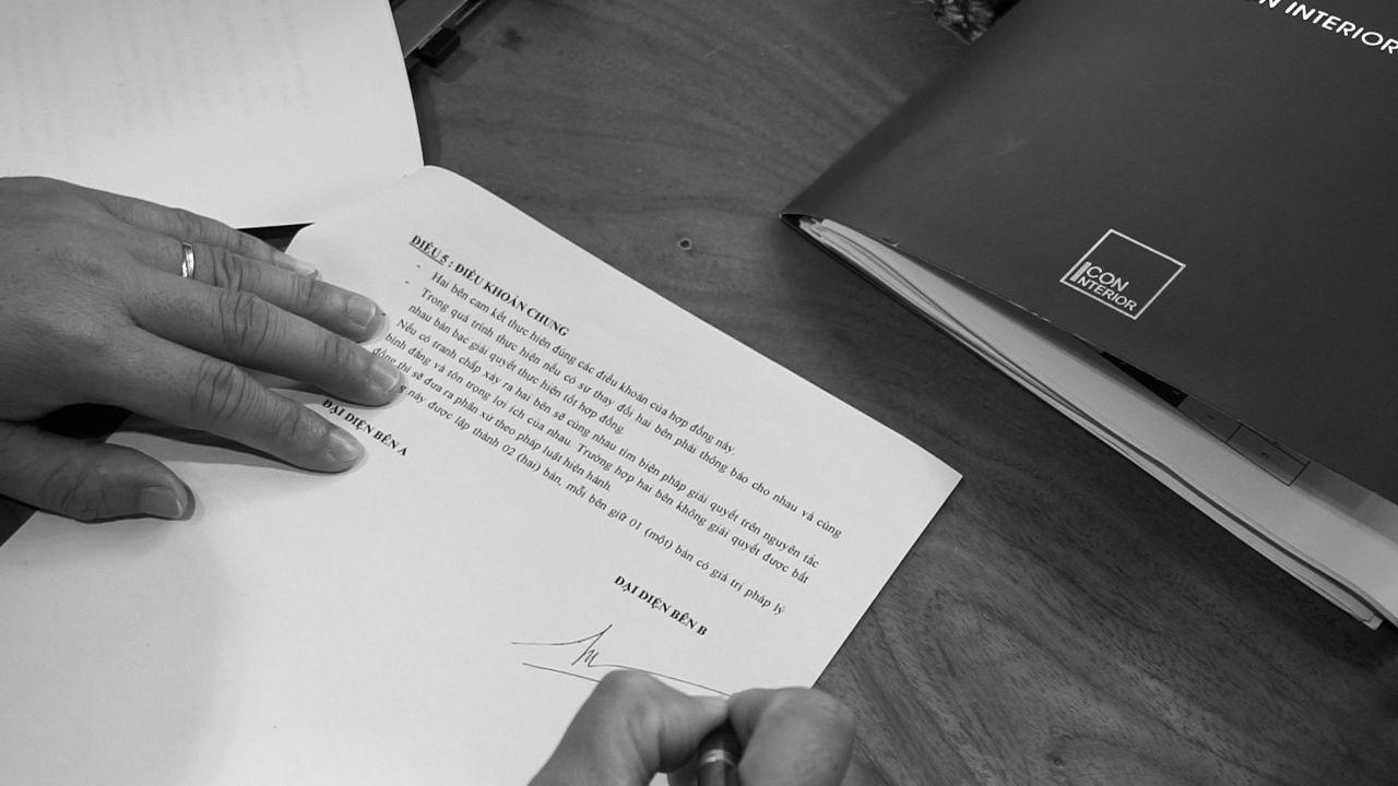 hợp đồng thi công nội thất căn hộ