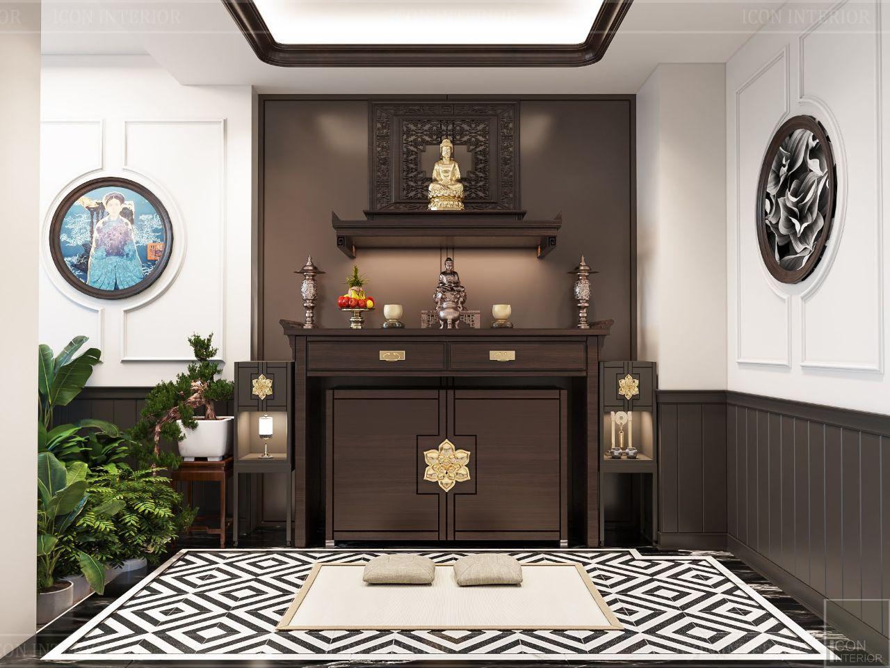mẫu thiết kế căn hộ có bàn thờ gia tiên