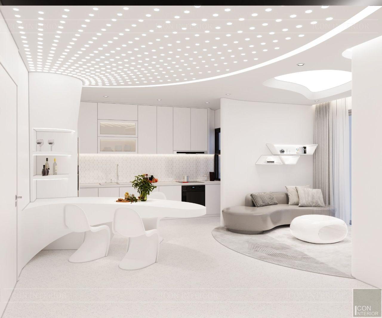 nội thất chung cư tối giản