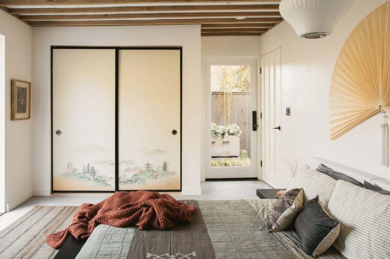 phòng ngủ căn hộ phong cách nhật bản