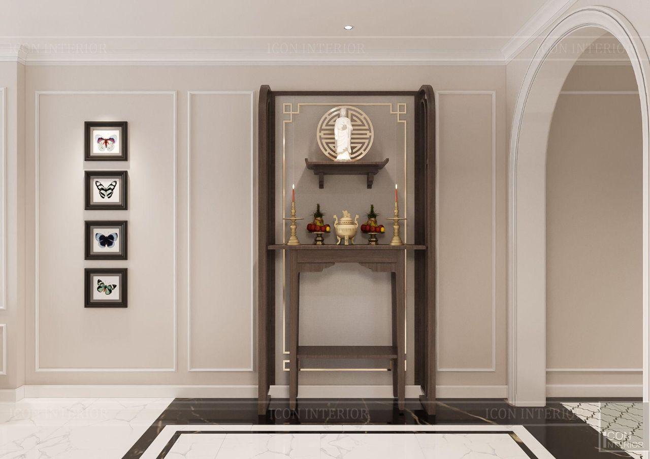 thiết kế bàn thờ phòng khách nhà chung cư