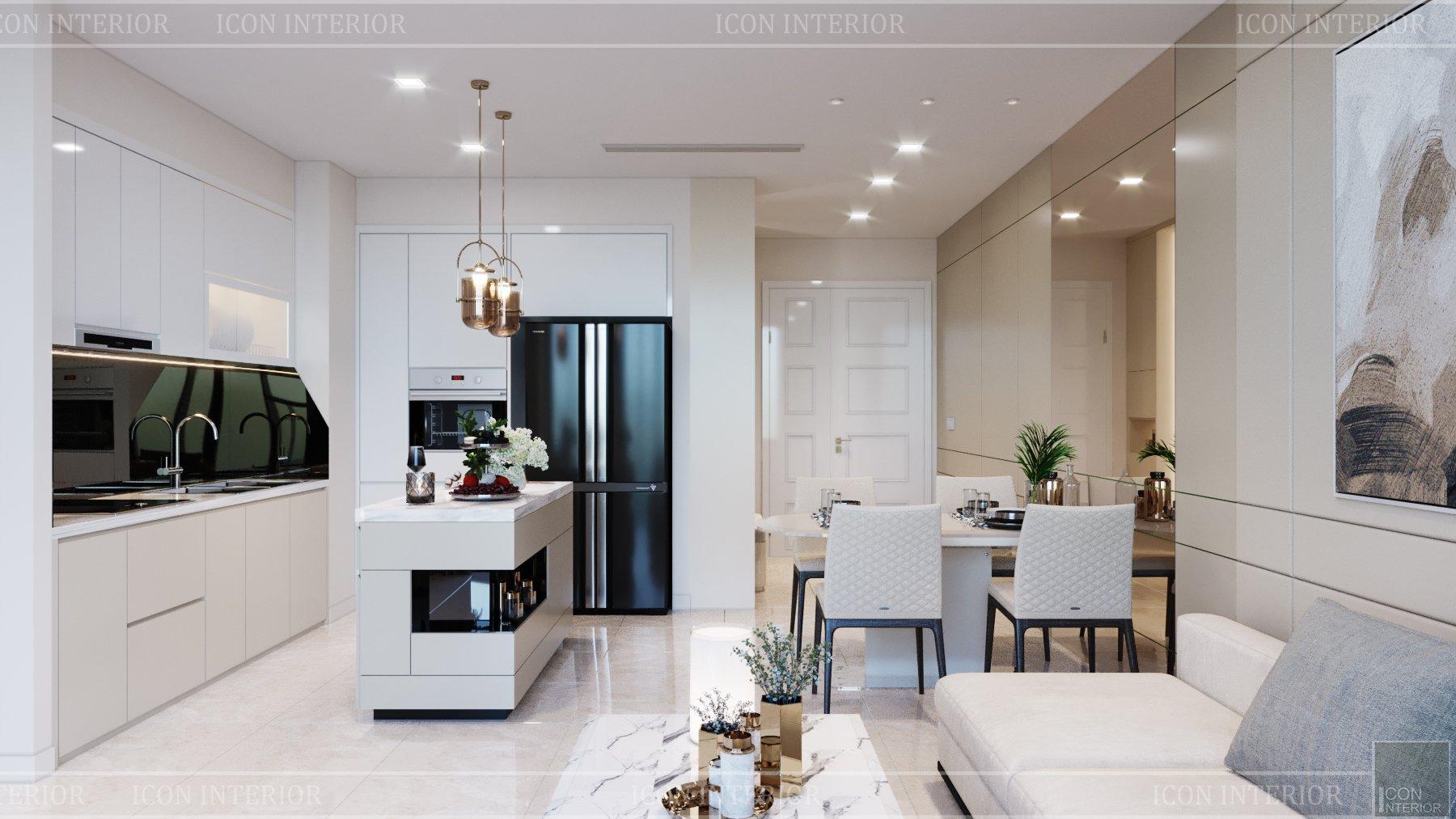 thiết kế căn hộ chung cư 56m2
