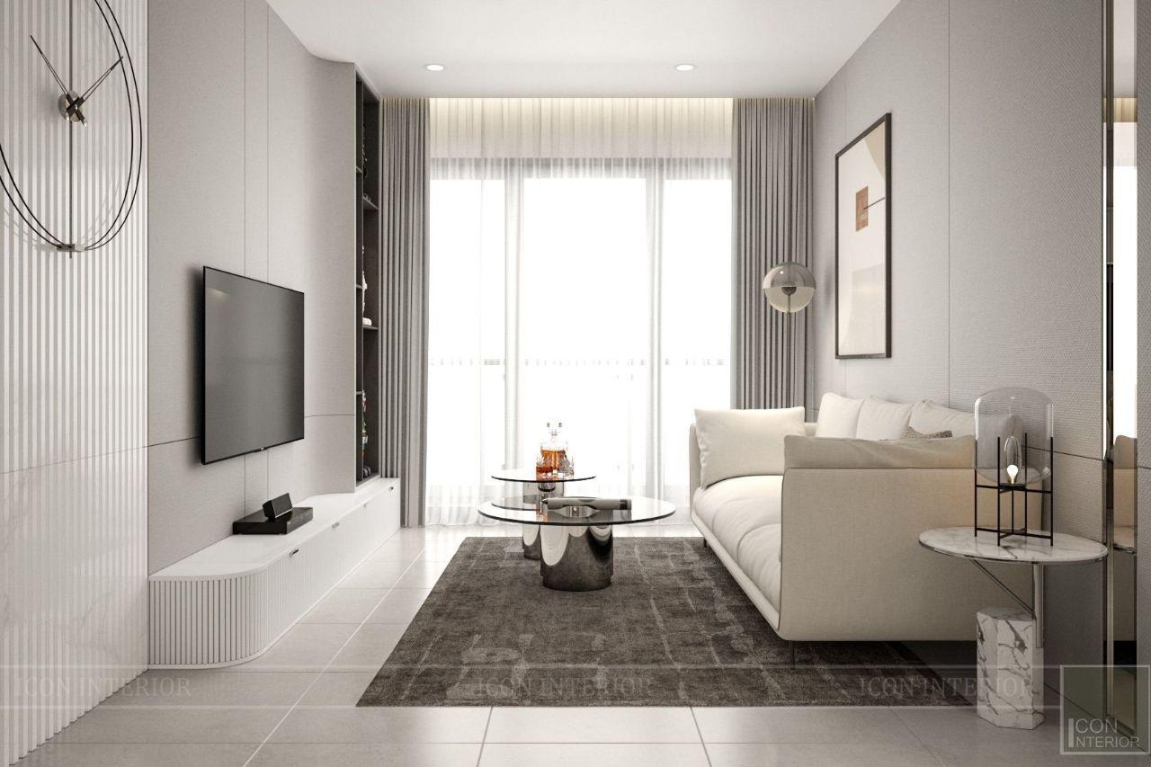 thiết kế căn hộ chung cư 75m2