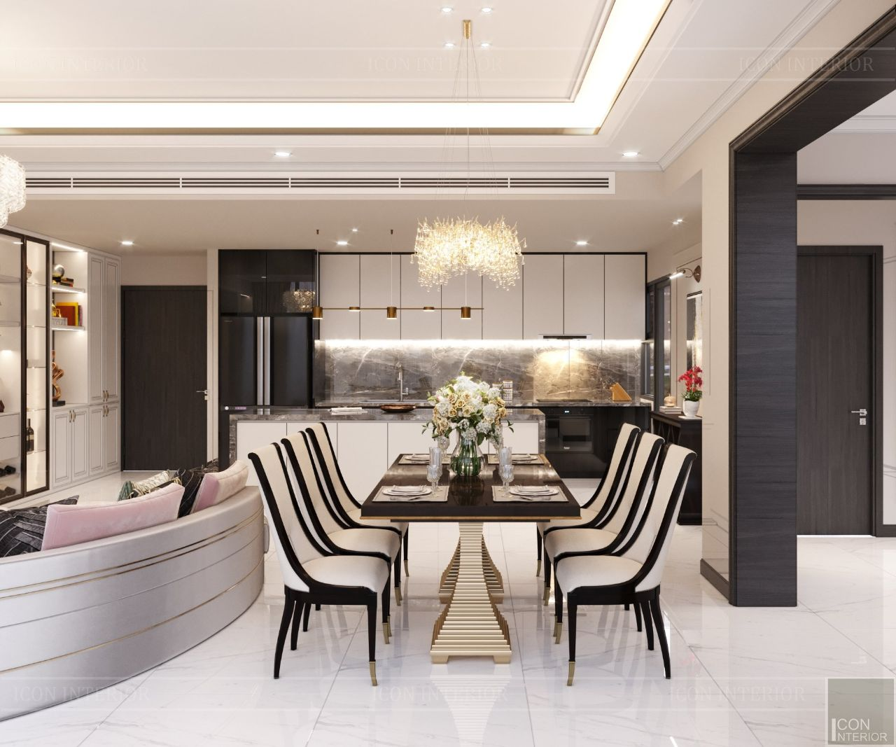 thiết kế nội thất chung cư empire city 100m2