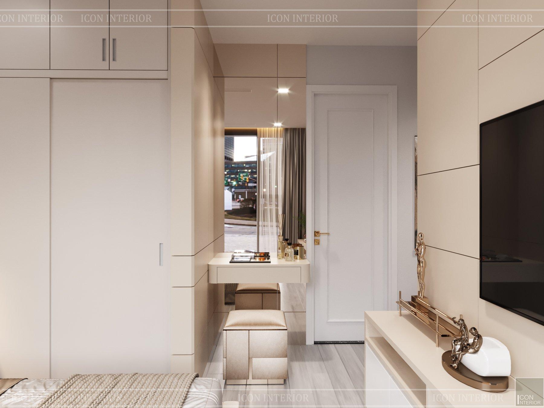 thiết kế chung cư nhỏ 56m2