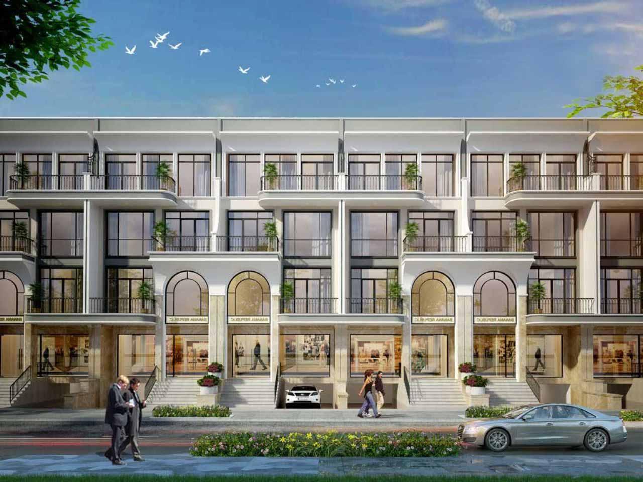 thiết kế kiến trúc biệt thự vạn phúc city