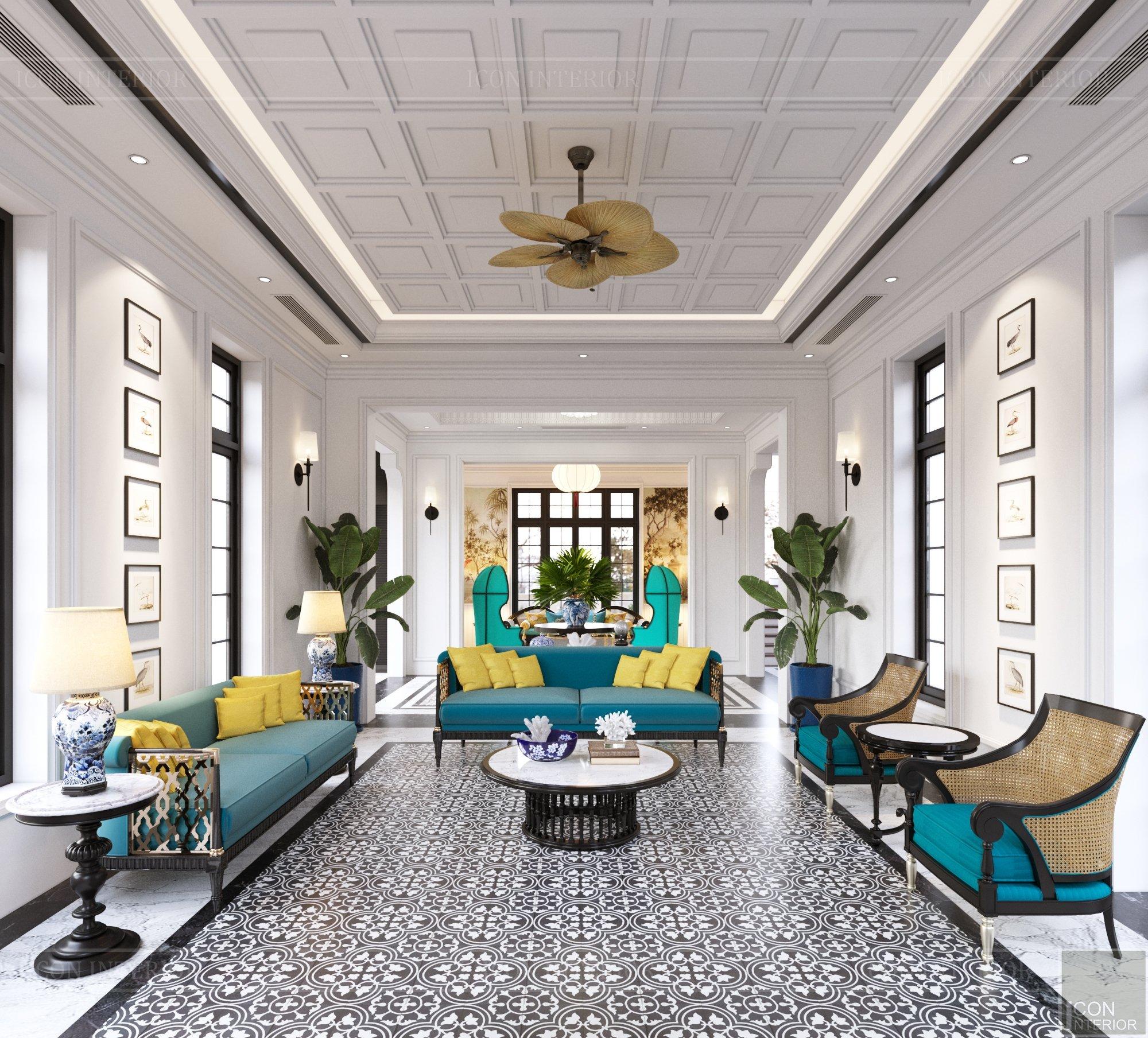 thiết kế nội thất villa thảo điền