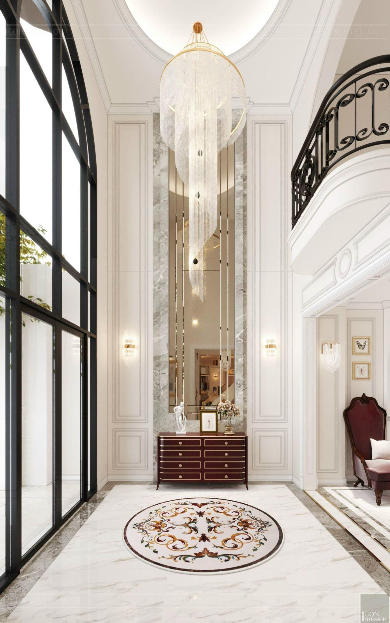 thiết kế nội thất biệt thự vạn phúc city 5 tầng