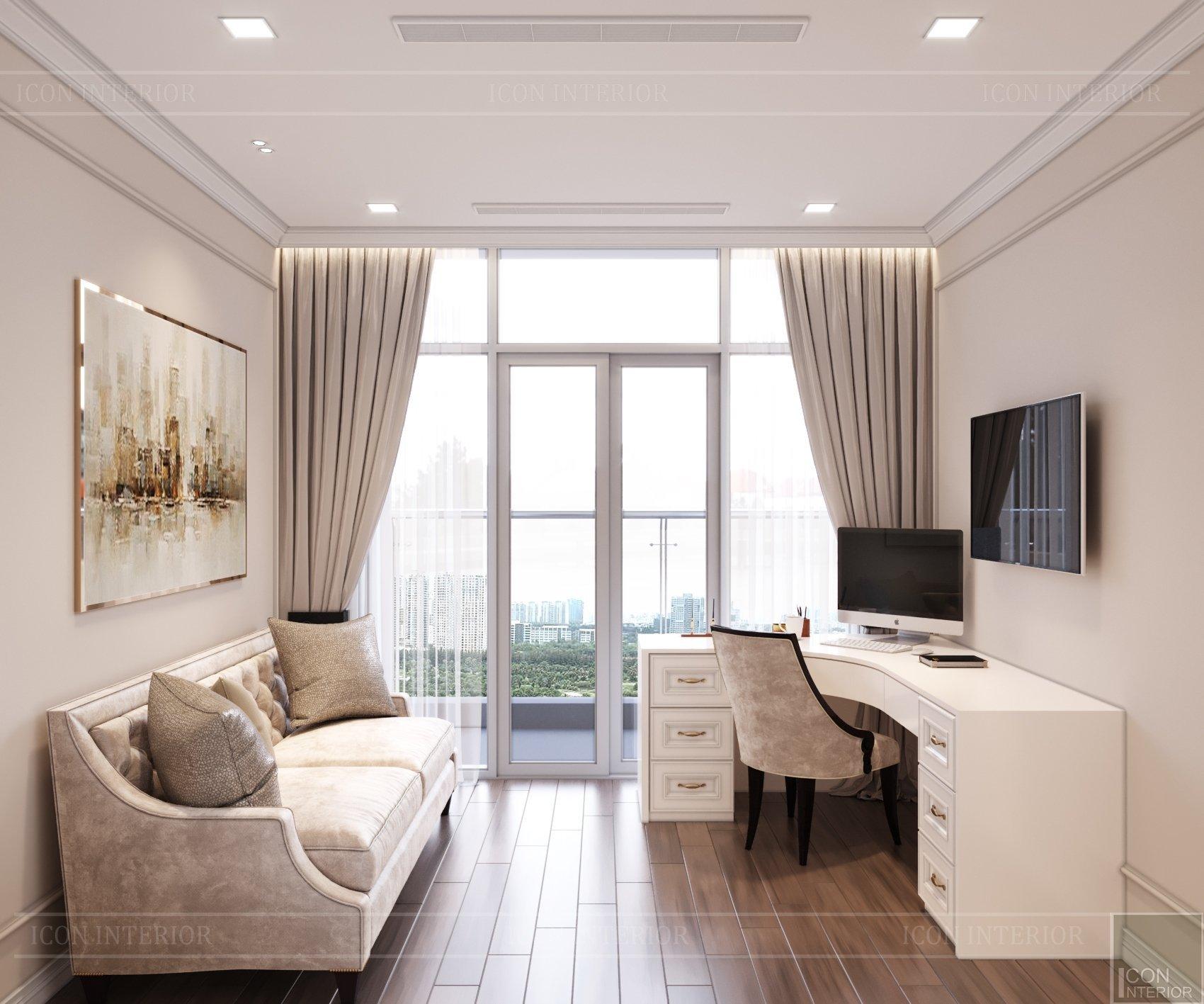 thiết kế nội thất căn hộ nhỏ 40m2