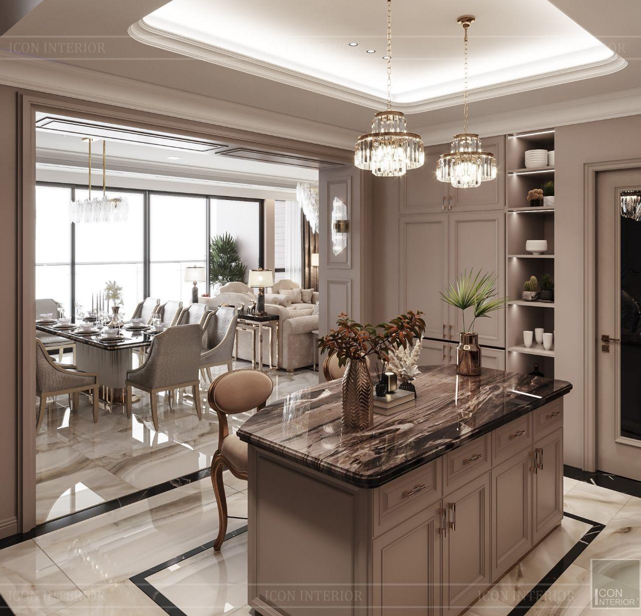 thiết kế đảo bếp cao cấp