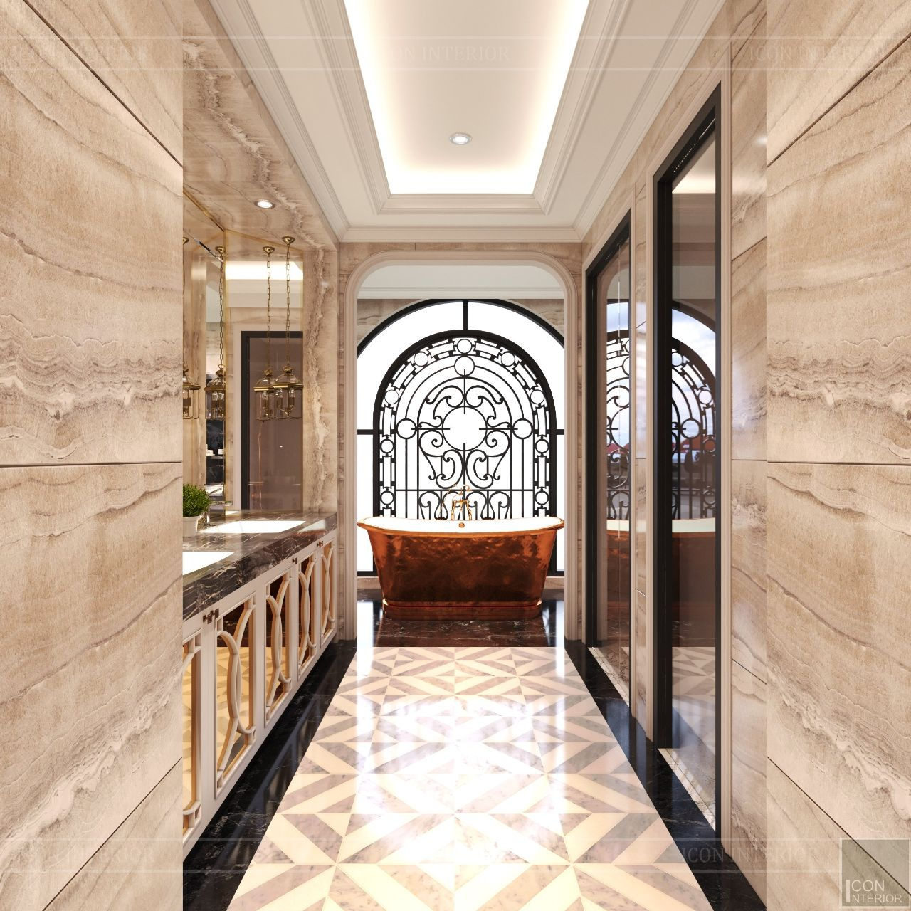 thiết kế nội thất biệt thự sang trọng vạn phúc city