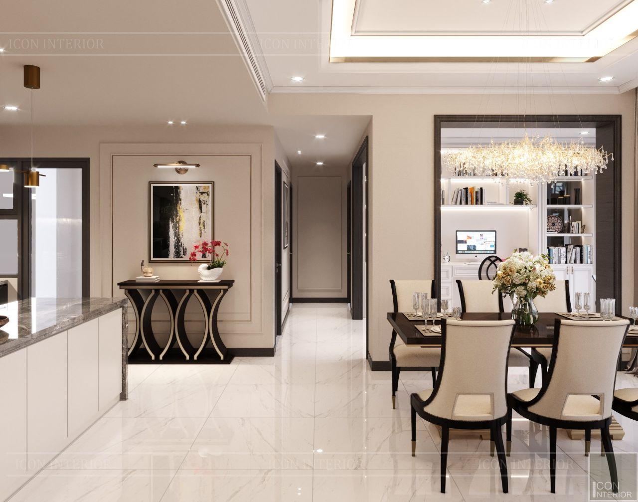 thiết kế nội thất căn hộ empire city 100m2