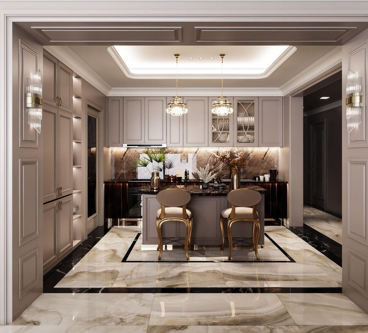 thiết kế gian bếp chung cư Feliz En Vista