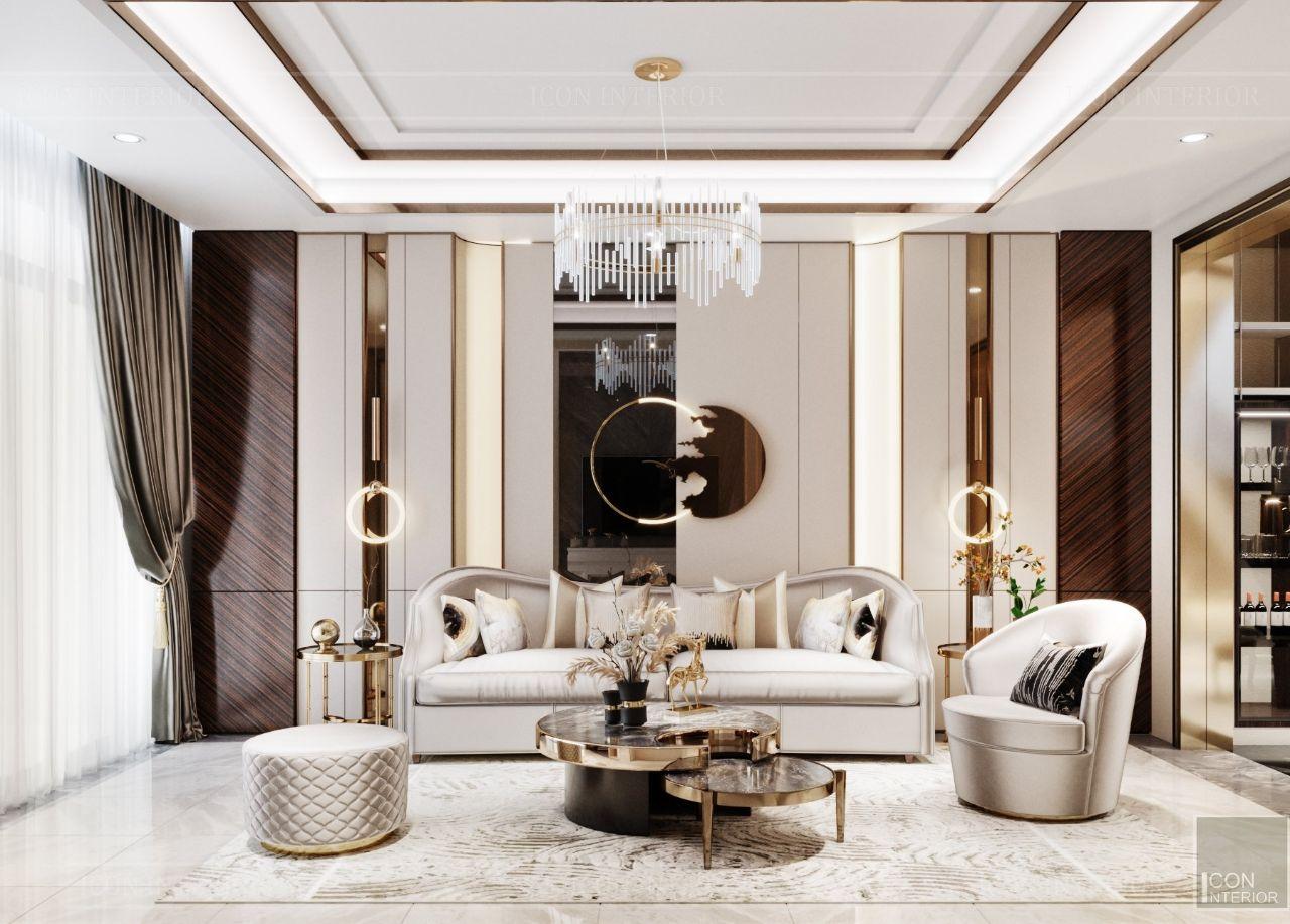 thiết kế nội thất phòng bếp biệt thự an phú new city