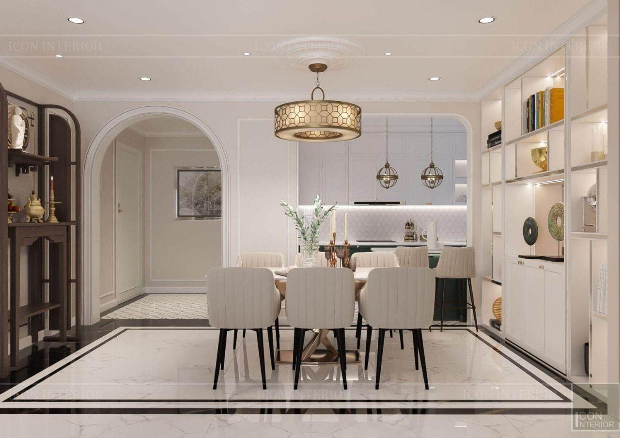 thiết kế nội thất phòng khách chung cư có bàn thờ