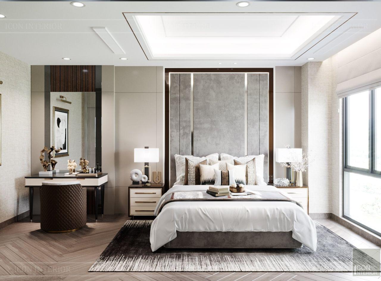 thiết kế nội thất phòng ngủ biệt thự an phú new city