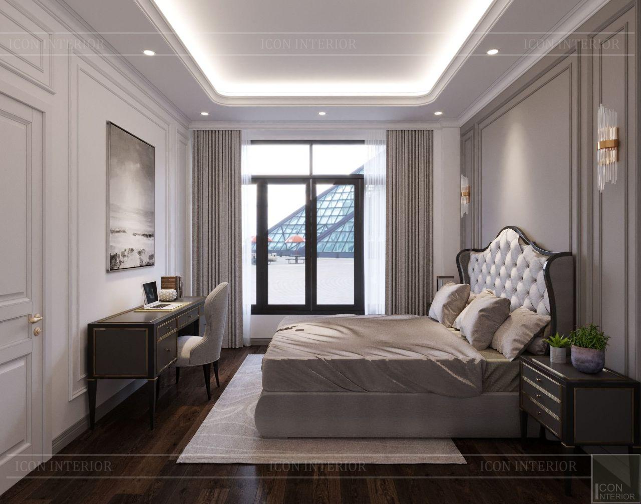thiết kế nội thất phòng ngủ biệt thự vạn phúc city