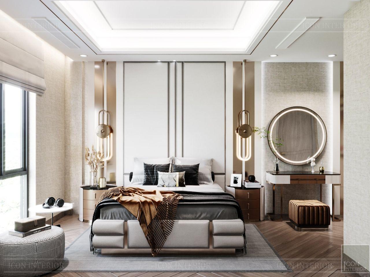 thiết kế nội thất phòng ngủ cao cấp biệt thự an phú new city