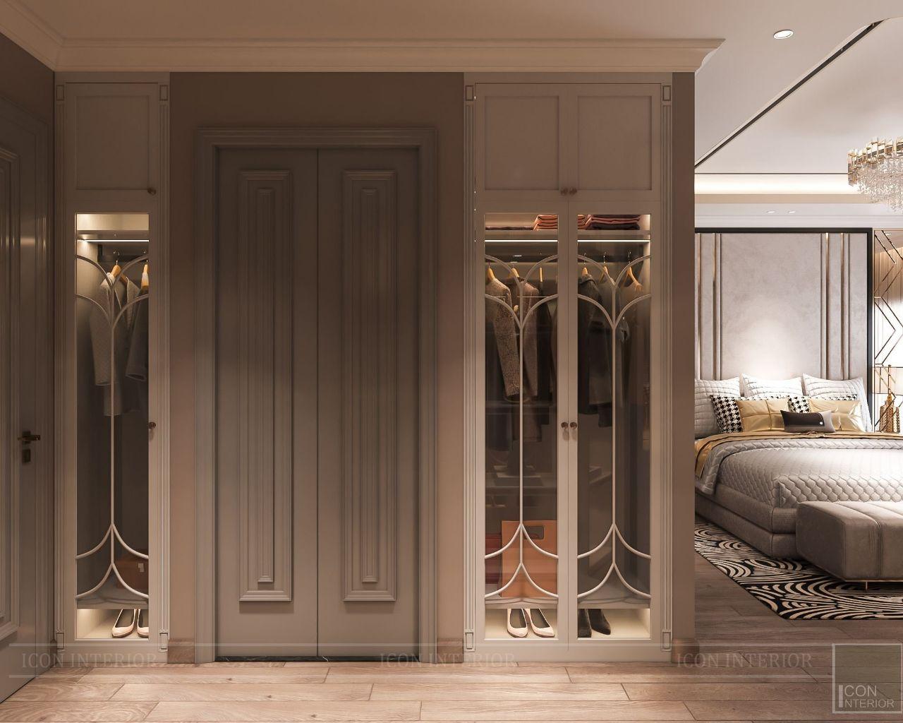Hệ tủ quần áo phòng ngủ chung cư