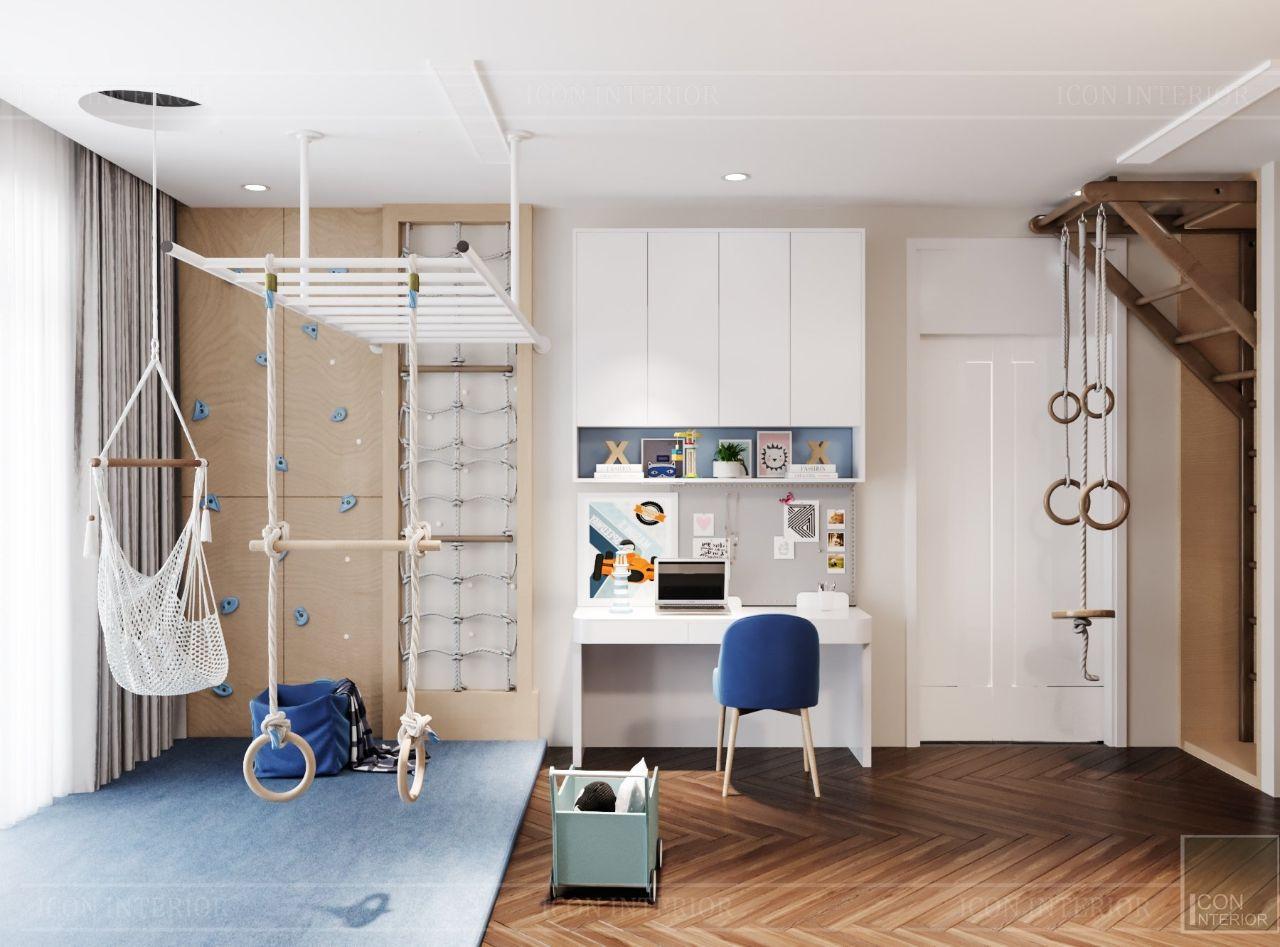 thiết kế nội thất phòng ngủ trẻ em biệt thự an phú new city