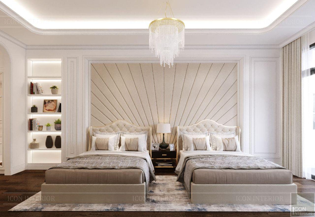 thiết kế nội thất phòng ngủ trẻ em biệt thự vạn phúc city