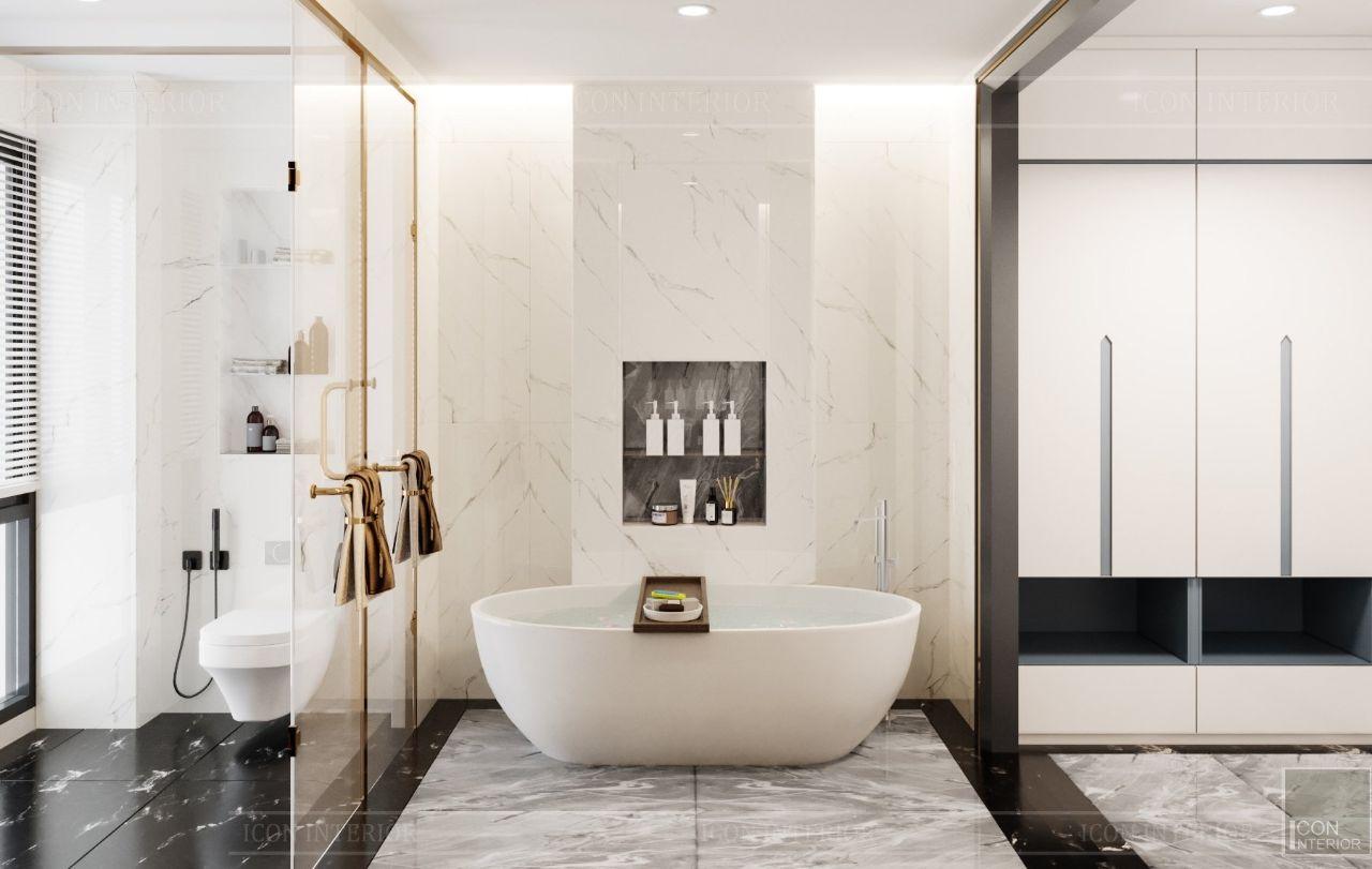 thiết kế nội thất phòng tắm villa an phú new city