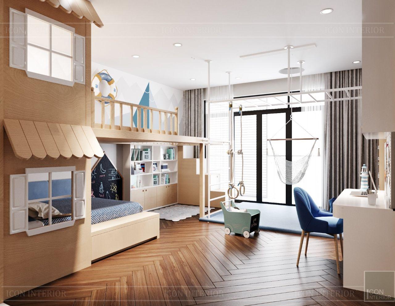 thiết kế nội thất phòng vận động villa an phú new city